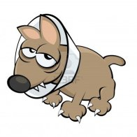 sick-cartoon-dog